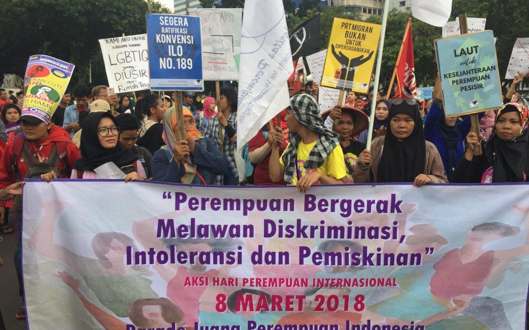 Perempuan Indonesia Bergerak Bersama, Hentikan Diskriminasi, Kekerasan, Intoleransi, dan Pemiskinan