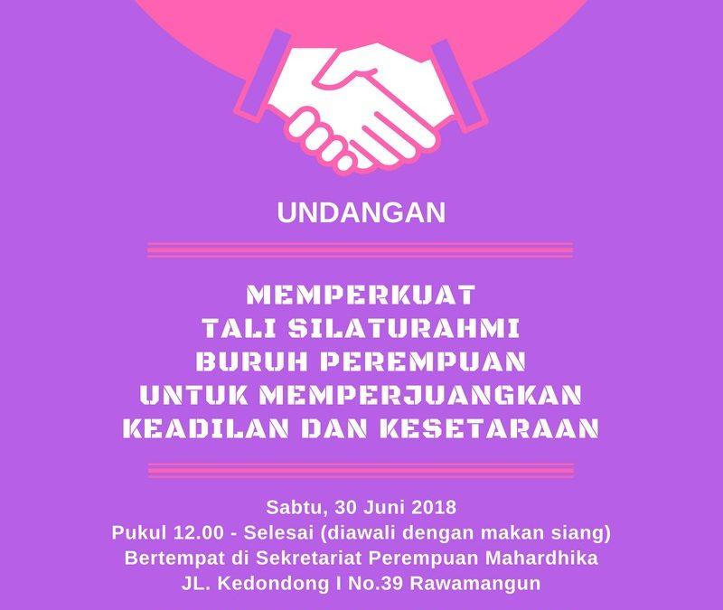 Silaturahmi Buruh Perempuan untuk Keadilan dan Kesetaraan