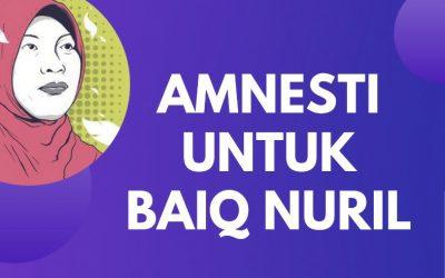 Bebaskan Baiq Nuril dari Hukuman Penjara,  Stop Kriminalisasi Korban Pelecehan Seksual