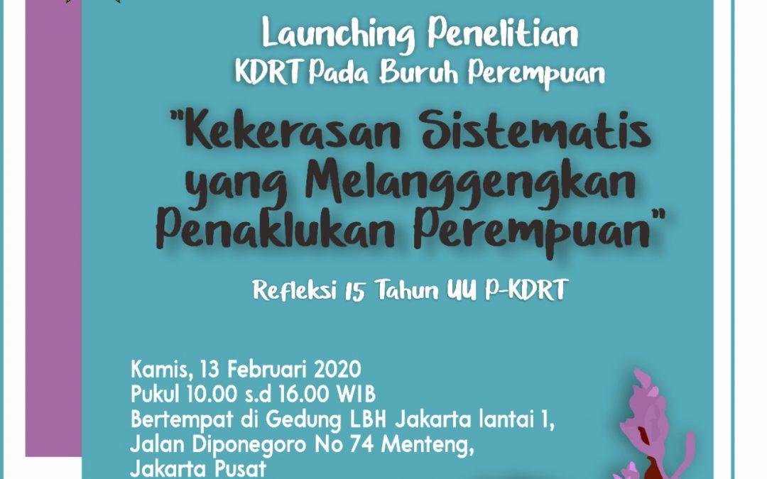 Launching Penelitian KDRT pada Buruh Perempuan