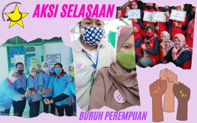 Menali Pita Ungu dan Sematkan Pin: Beragam Cara Buruh Perempuan Dukung RUU P-KS