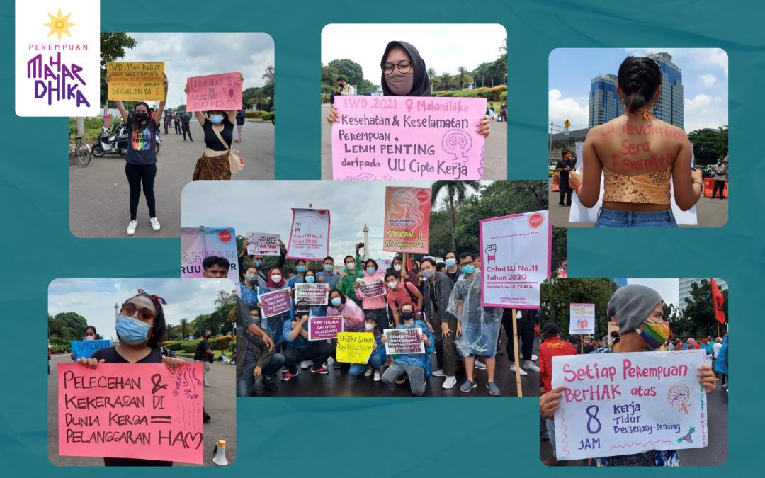 Aksi IWD 2021, Ruang Bagi Perempuan Muda Menyuarakan Tuntutan